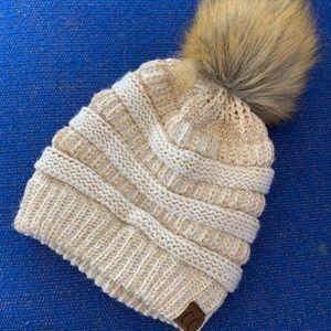 C.C Hat w/ Gold Stitching & BONUS hat